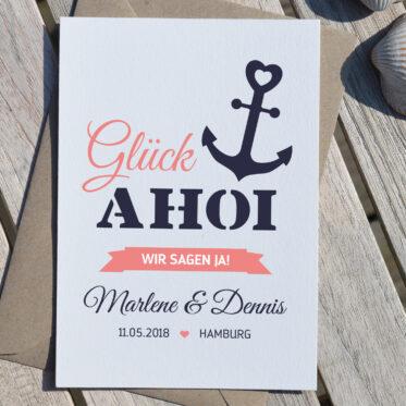 Nordischklaar Einladung Glück Ahoi